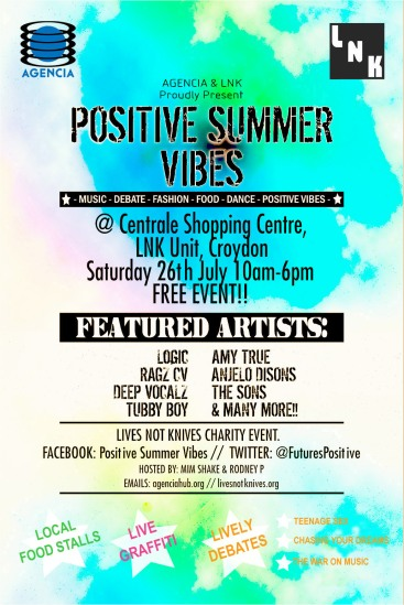 Positive Summer Vibes Poster